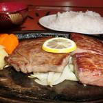 24543432 - 霜降りミニステーキ定食(2980円)