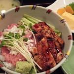 鮨処 銀座福助 - ねぎとろ・穴子丼