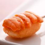串かつ にし川 - 新鮮いかに北海道うにを乗せ、わさび醤油で。
