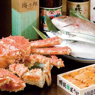 新鮮な魚介類が味わえます。