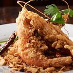 中国料理酒家 中 - 海老の甘唐揚げ