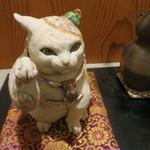 治鮨 - 26年2月 招き猫 京都、吉田一也氏の焼物