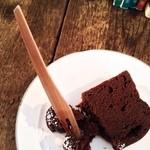 お茶とお菓子 横尾 - こしあんのガトーショコラ