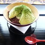 漆の実 - 抹茶クリームぜんざい(白玉入)(¥750)