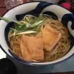蕎麦YUKI - 蕎麦YUKIの葱きつね蕎麦1200円(14.02)