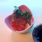 幸っちゃん寿司 - 自家製イクラの醤油漬け