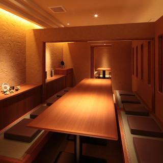 4名様~10名様まで、アレンジのできる個室をご用意してます。ご予約はお早目にお願いします。