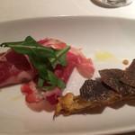 イタリア料理 アルファロ - アミューズ  イタリア産コッパとモルダデラソーセージの盛合せ
