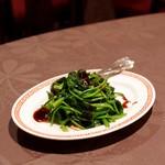 月苑飯店 - 季節の青菜炒めオイスターソースかけ