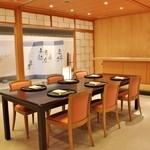 熊魚菴 たん熊北店 - 京料理の庭付きテーブル個室「浮舟」