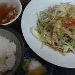 24562201 - 肉野菜炒め定食:490円
