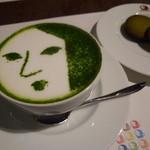 24567976 - よーじや特製抹茶カプチーノ(650円) 飲んでしまうのが惜しい。。。