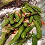 てっぱん 雅家 - 枝豆のペペロンチーノ