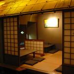 うなぎ料理 う玄武 - 「おもかげの間」はまるでお茶室のような風流なお座敷。接待、慶事やお見合いの席に好評です。