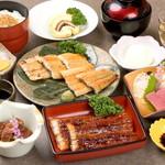 うなぎ料理 う玄武 - 蒲焼・白焼他、人気の逸品を集めた利休コースは接待にも好評いただいております。