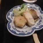 きんとき - 鰆と鯖の焼き物と、里芋の揚げ物