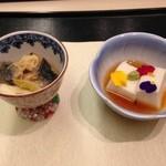 日本料理 矼 - 白子豆腐となんか。とても美味しかった〜