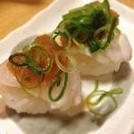 七ふく神 - フグ寿司☻ 今日はフグ屋さんで飲み会