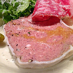 24572431 - BRIANZA MENU(2800円) 前菜 白金豚のテリーヌ