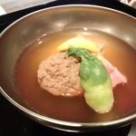 24580418 - 【煮物椀】                       鴨のつみれ 揚げ豆腐