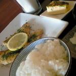 風車 - 料理写真:Bランチ「魚のソテー青のり風味」