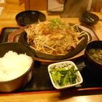 テング酒場 - 豚肉と野菜の鉄板焼きセット