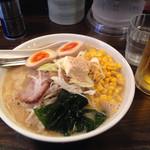 円山 - 味玉味噌ラーメン+コーンバター