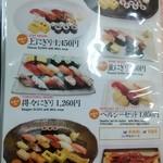 24589237 - 寿司メニュー