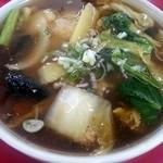 中華料理 楽天華 - あんかけラーメン(しょうゆ・ハーフ)
