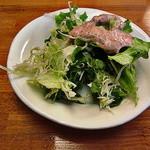 花びし - ランチセットのサラダ(サウザントレッシング)