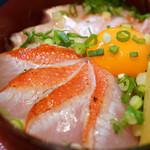 塩釜あがらいん - 金目鯛の黄金丼