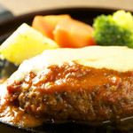 未来食カフェレストラン つぶつぶ - 3/4〜高キビハンバーグ トマト味噌&もちアワチーズ