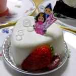 プレヴェール - ひなまつりハートのケーキ:450円('14.03月)