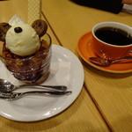 ムーセイオン - パンダパフェとコーヒー