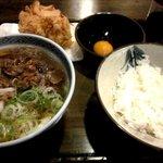 かまど - 肉うどん定食!(2014,02/23)