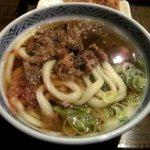 かまど - 甘辛出汁の肉うどん!(2014,02/23)