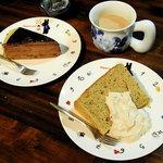 fusia cafe - テイクアウトしたケーキで家茶