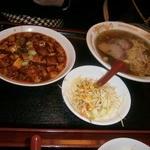 24600628 - バリューセット(麻婆丼のライス抜き+チャーシューメン)1000円