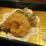 清粥小菜 明 - フカヒレの天ぷら