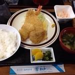 まるかサービス・ステーション - シーフードフライ定食