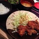 24613633 - 鶏の唐揚げ明太風味定食