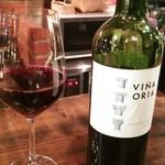 金甌屋 - 赤ワイン♪