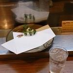 大樹 - 天麩羅皿&黒霧たっぷりロック350円