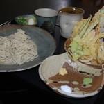 蕎麦 宮川 - 料理写真:3種の塩でお楽しみいただけます【天もりそば】