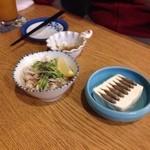 なんた浜 - ミミガーとスクガラス豆腐