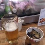 恵比寿横丁 肉寿司 - ビールと付きだし