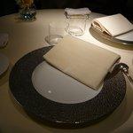 レストラン ひらまつ - テーブルセッティング