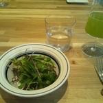 24620364 - サラダ & 静岡産の緑茶