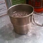 野菜を食べるカレーcamp - お水の金属マグカップ