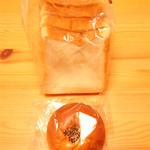 福島屋 - 内麦食パン\300 小倉あんぱん\180